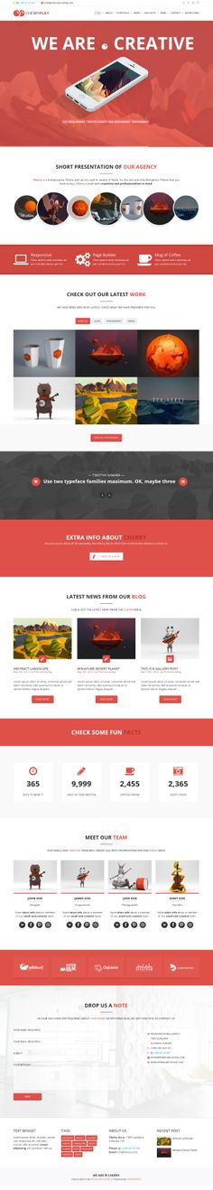 Cherry - A Multipurpose One & Multi Page Theme #creative #design