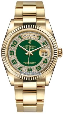 118238 Green Pave Diamond Arabic Oyster