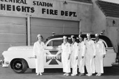 The Ladies in White provided emergency services in Citrus Heights from 1951 to The nation's first all-women fire and rescue squad. Citrus Heights, Virtual Museum, Local History, Fire Dept, Fire Engine, Great Memories, Ambulance, Growing Up, California