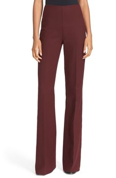 Definitely needing these figure-elongating pants for work. This bold, burgundy color will pair perfectly with a cream blouse and blazer for fall.