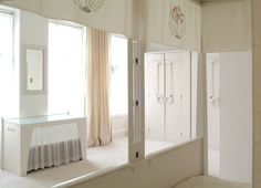 Colour photograph of Mackintosh House master bedroom, S.E. corner