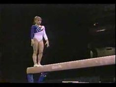 Dominique Moceanu beam routine 1996. She's just so adorable, as well as being a little powerhouse!