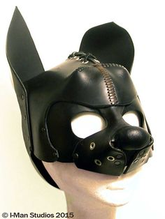 Handcrafted Leather Pup Mask. by IManStudios on Etsy