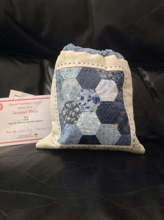 Hexie bag - given to Lisa for her birthday in 2013 - 2nd prize in Patchwork bag