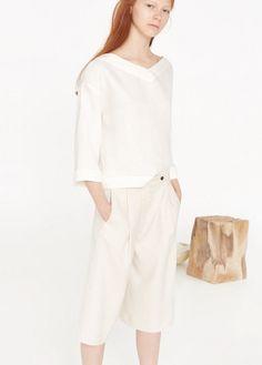 Premium - blusa linho | MANGO