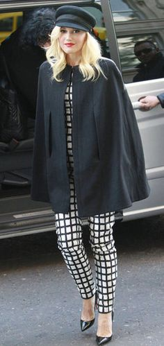 Gwen Stefani in London, styled by #RandM.