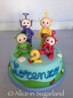 Teletubbies Cake by AliceInSugarland Teletubbies Birthday Cake, Teletubbies Cake, Movie Cakes, Cupcake Cakes, Cupcakes, Baby Girl Cakes, Novelty Cakes, Occasion Cakes, Cake Tutorial