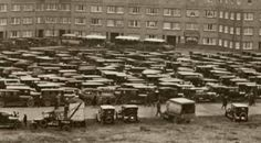 Cars parked at the Olympisch Stadion in 1928, Amsterdam Olympic Games