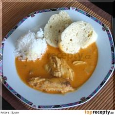 Slepice na paprice Thai Red Curry, Mashed Potatoes, Pudding, Ethnic Recipes, Desserts, Bohemian, Treats, Red Peppers, Whipped Potatoes
