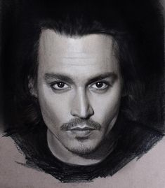 Johnny Depp. Pastel Charcoal and Graphite Celebrity Portraits. By Justin Maas.