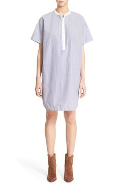 Vince Cotton Poplin Shift Dress