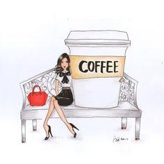 Ideas for breakfast table illustration audrey hepburn Coffee Cup Art, Coffee Girl, Coffee Is Life, Coffee And Books, I Love Coffee, Coffee Cafe, Coffee Humor, Coffee Quotes, Coffee Break