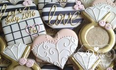 Bachelorette Bridal Shower Engagement von DolceCustomCookies