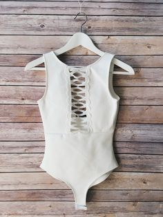 Detailed Front Solid Bodysuit 44% Polyester 23% Nylon 30% Rayon 3% Spandex Bodysuit Fashion, Beautiful Outfits, Beautiful Clothes, My Wardrobe, Curvy, Feminine, Detail, My Style, Shopping