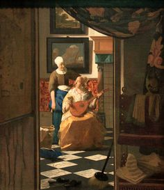 The Love Letter; 1669-1670; Johannes Vermeer
