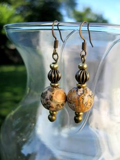 Earrings Handmade with Antique Brass & by CraftySchmantzy on Etsy, $19.50