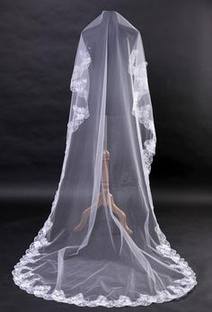 Lace MANTILLA Bridal Veil by yesteryearglam on Etsy, $78.00