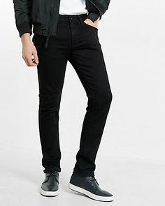 skinny fit skinny leg performance stretch black jeans
