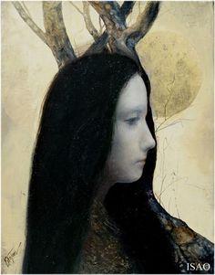 on a quiet night, I saw the moonlight, Isao Tomoda