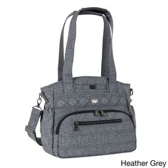Organize your essentials in this Lug USA Windjammer tote bag, which features multiple interior and exterior pockets. Padded shoulder straps keep you comfortable, and the water-repellent finish and stu