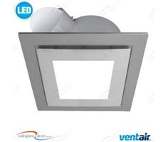 White Square Ventair Airbus 250 Pro-V Bathroom Exhaust Fan With 14W LED Light