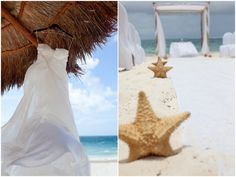 unique starfish aisle decor Destination Wedding Mexico | Leigh Skaggs Photography | Bridal Musings (35)
