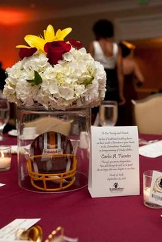 Football theme wedding yahoo search results yahoo image search you can subtly incorporate your teams colors into your flowers sports weddings sport themed wedding ideas junglespirit Choice Image