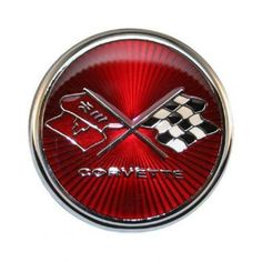 Corvette Emblem Metal Sign featuring 14 gauge all steel construction. Each metal sign comes with pre-drilled holes to hang freely or for a secure mount. These digitally manufactured signs 1976 Corvette, Chevrolet Corvette, Tc Cars, Car Hood Ornaments, Home Office Accessories, Chevy, Metal Signs, Tin Signs, Vintage Motorcycles