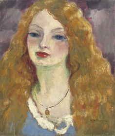 Kees Van Dongen (Dutch 1877-1968) Portrait de femme (1909)oil on canvas 54 x…