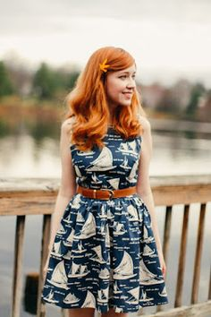 Love the print off this dress. Boats and gorgeousness.