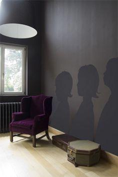 matte paint silhouettes