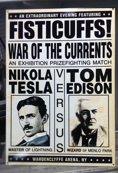 TESLA vs. EDISON prizefighting vintage boxing by DystopiaNoir