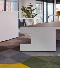 Bolon flooring in the office of Tapwatch in Rotterdam, Netherlands