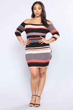 b8d37c81951 Plus Size Hold Him Tight Striped Dress - Pink Multi  24.99  fashion  ootd