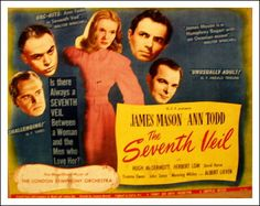 Muriel Box and Sydney Box Best Original Screenplay 1946 The Seventh Veil Classic Movie Posters, Classic Films, Film Posters, 2 Movie, Love Movie, Herbert Lom, Leagues Under The Sea, Film Watch, Academy Award Winners