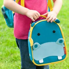 Skip Hop Zoo Lunchies Insulated Lunch Bag Hippo #laylagrayce #skiphop #children