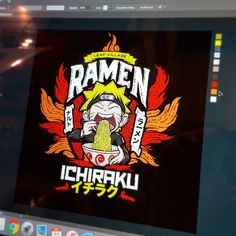 Almost done with my collaboration with @artbyjp on our #naruto #ramen label #art #design #painting #artist #etsy #indie #artwork #anime #manga #boruto #narutofan #uzamaki
