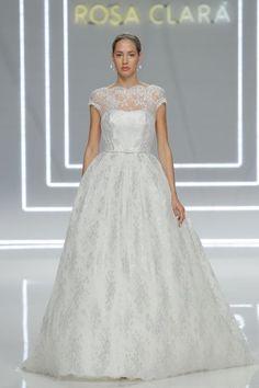 Vestidos de novia corte princesa 2017: 65 diseños extraordinarios que no querrás dejar escapar Image: 12