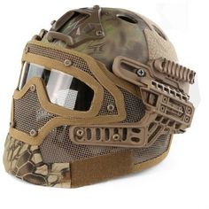 G4 System Tactical Paintball Helmet ABS Full Face Mask With Goggle