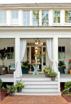 Widen steps and front door