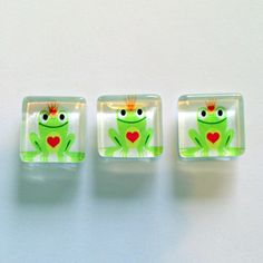 Frog Prince Magnets Set of 3 Baby Shower Favor by CloudNineDesignz, $5.00
