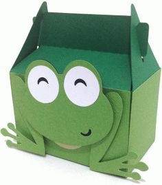 cute frog box----------------------I think I'm in love with this shape from the Silhouette Online Store!