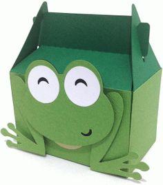 Silhouette Design Store - View Design #60222: cute frog box