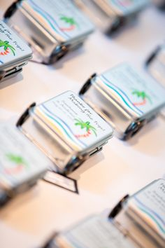 Destination wedding guest favors.
