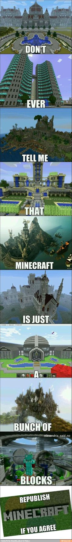 Never tell me Minecraft is just a bunch of blocks- # bunch . - Never tell me Minecraft is just a collection of blocks - Minecraft Bauwerke, Amazing Minecraft, Minecraft Blueprints, How To Play Minecraft, Minecraft Crafts, Minecraft Designs, Easy Minecraft Houses, Minecraft Survival, House Blueprints