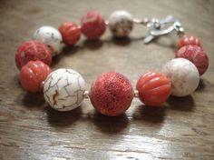 Pink sponge coral bracelet by SAMANTHATENN on Etsy, beautiful