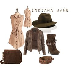 Indiana Jane, created by redheadpeacock on Polyvore