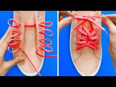 15 CREATIVE WAYS TO TIE YOUR SHOESYou just have to check these insanely creative ways to tie your shoes! :) I& prepared some incredibly easy clothes and shoes decor ideas! Use bleach to decorate your T-shirts, pillo Ways To Lace Shoes, How To Tie Shoes, Your Shoes, Ways To Tie Shoelaces, Creative Shoes, Creative Decor, Lace Art, Decorated Shoes, Kinds Of Shoes