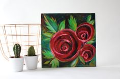 The Roses by VanessaMarshDraws on Etsy Painting, Art, Vintage