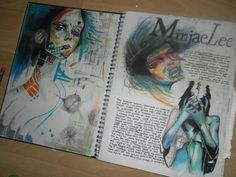 I'Ve collect an example of art journal pages that i think are excellent. browse through the examples and try to incorporate some of the ideas into your art Art Journal Pages, Art Pages, Art Journals, Textiles Sketchbook, Gcse Art Sketchbook, A Level Art Sketchbook Layout, Artist Research Page, Deco Miami, Kunst Portfolio